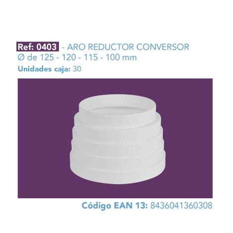 ARO REDUCTOR CONVERSOR Ø DE 125 - 120 - 115 - 100 MM