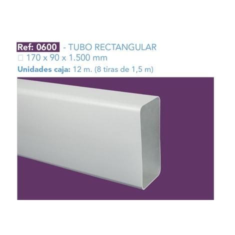 TUBO RECTANGULAR 170 X 90 X 1.500 MM