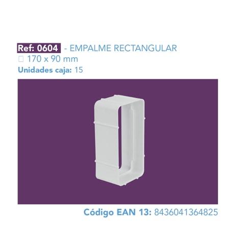 EMPALME RECTANGULAR 170 X 90 MM