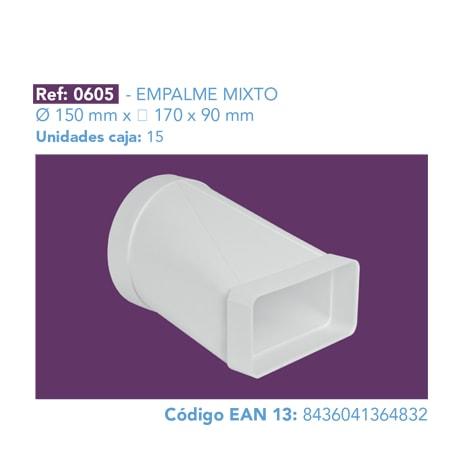 EMPALME MIXTO Ø 150 MM X 170 X 90 MM
