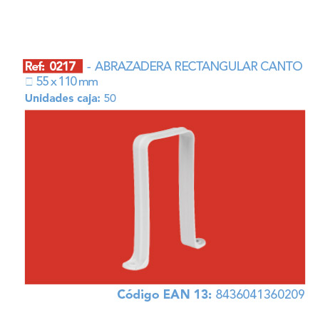 ABRAZADERA RECTANGULAR CANTO 110 X 55 MM
