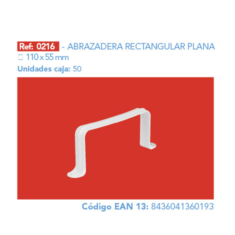 ABRAZADERA RECTANGULAR PLANA 110 X 55 MM