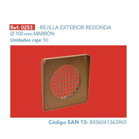 REJILLA       EXTERIOR REDONDA Ø 100 MM MARRÓN