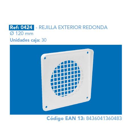 REJILLA       EXTERIOR REDONDA Ø 120 MM