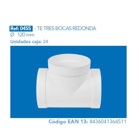 TE TRES BOCAS REDONDA 120 MM