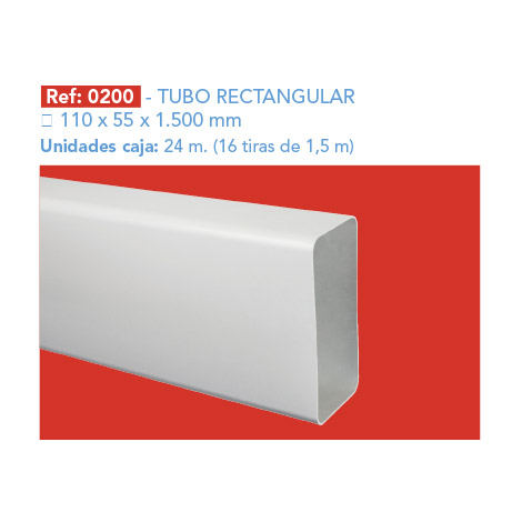 TUBO RECTANGULAR 110 X 55 X 1.500 MM
