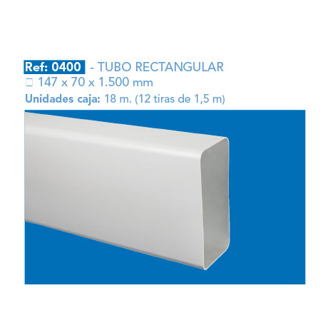 TUBO RECTANGULAR 147 X 70 X 1.500 MM