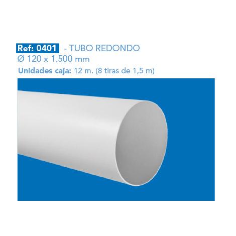 TUBO REDONDO Ø 120 X 1.500 MM
