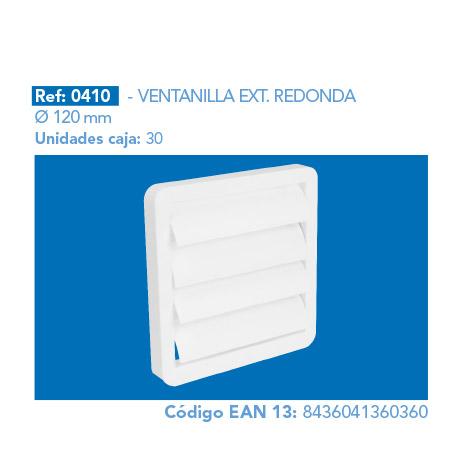 VENTANILLA EXT.      REDONDA Ø120 MM